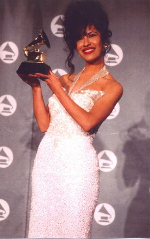 Selena with her Grammy.