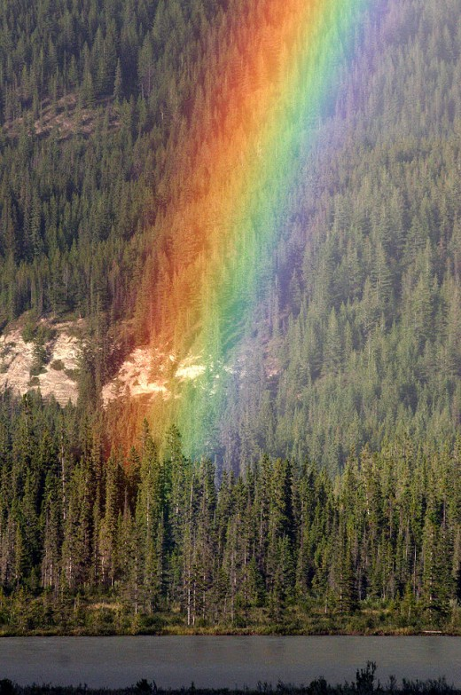 """Where rainbow rises (Jasper National Park, Canada)"" by Wing-Chi Poon"
