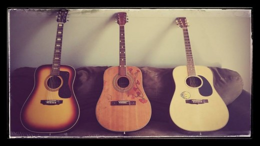 My three acoustic guitars