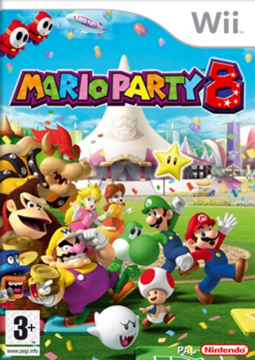 Mario Party 8 Video Game Cover
