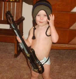 Never too young to be inspired! *My son Haden circa 2010*