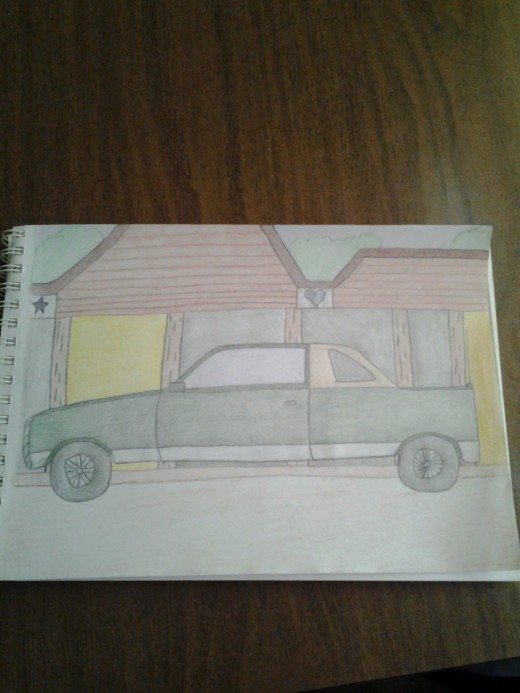 I drew this for my nephew who loves trucks.