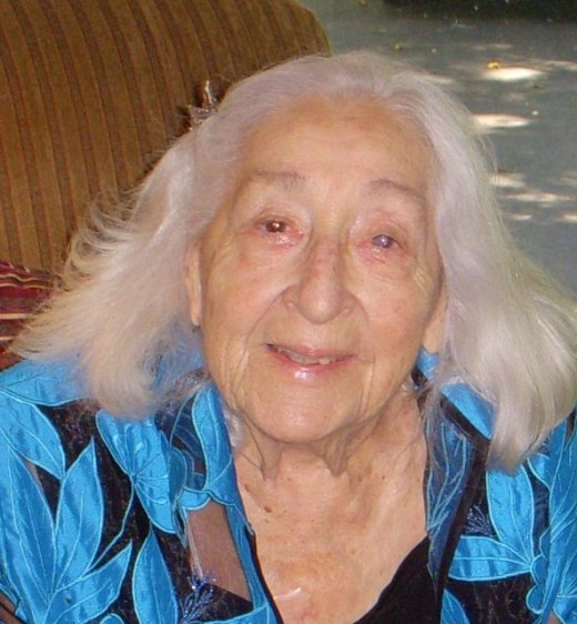 Here's my lovely Mom, Gertie, at 94. She was, and remains, my hero.
