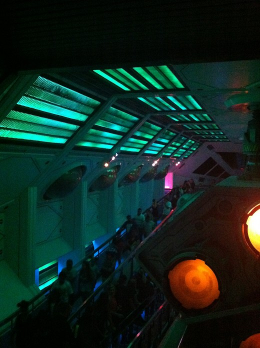Here is the inside of Space Mountain.