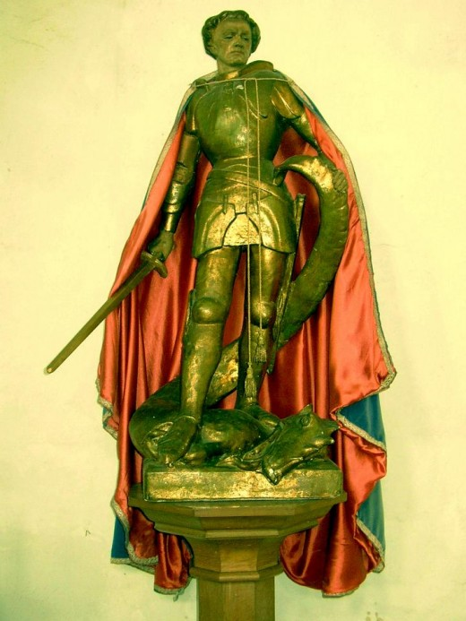 Legendary protector of England and dragon killer St. George. Image from morguefile.com