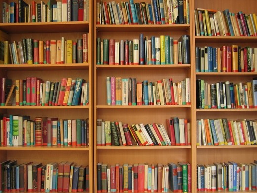 Books on a bookshelf.  Creating a new book can be an intimidating experience.