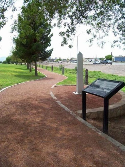 walking trail follows the former boundary line between the U.S. and Mexico.