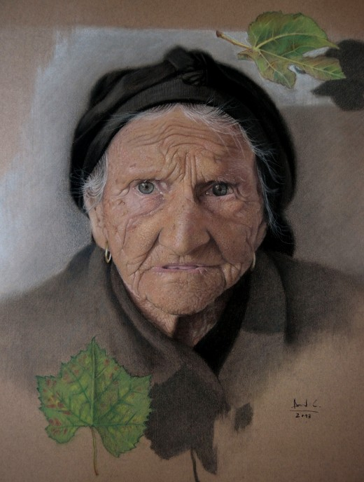 Mary Light-foot  2013 - Pastel pencils on paper