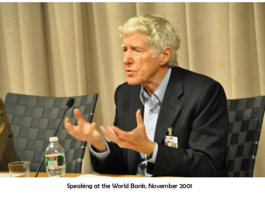 Dr. Brown speaking at the World Bank 2001