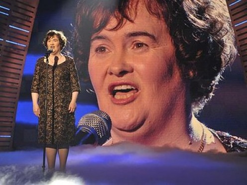 "Susan Boyle singing ""Memories"" from 'Cats'."