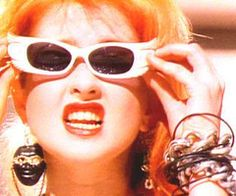 Another promotional pic: Cyndi sporting her sunglasses.