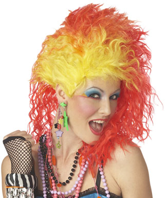 Red and yellow hair looks great on Cyndi!