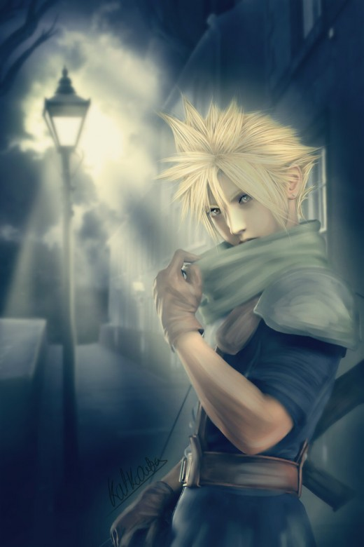 This piece was submitted by KatkoOota at DeviantArt. Cloud was very quiet and timid before Zack came into his life. Zack's death led Cloud down a pretty dark path of guilt and despair. In time, he did conquer his guilt.
