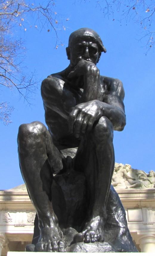 The Thinker by Rodin.