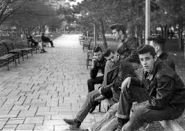 Vintage gang of greasers, early bullies