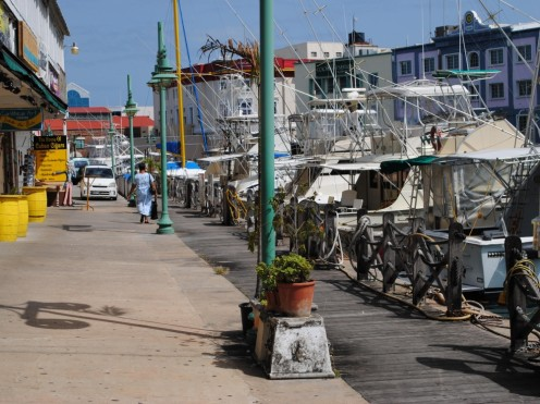 (by JonLuty at Morguefile) Bridgetown, the country's capital, is a port city.  Here, smaller vessels are docked streetside.