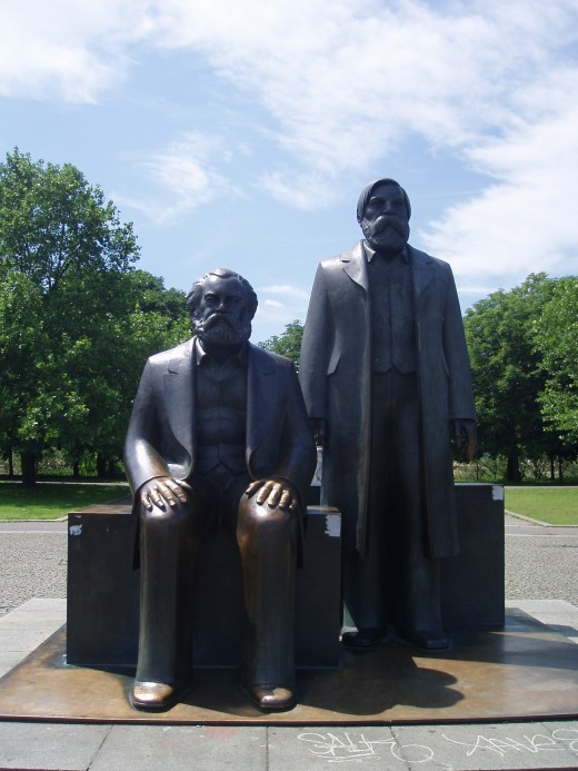Statue of Marx and Engels in Berlin