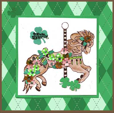 St. Patrick's Day Card with Carousel
