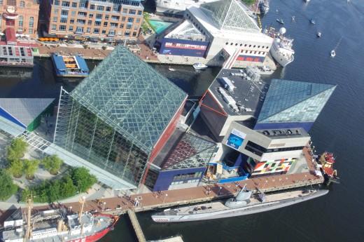 The National Aquarium of Baltimore.