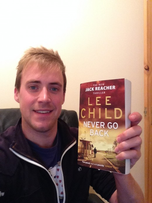 Here I am, buzzing with anticipation to crack on with reading 'Never Go Back'