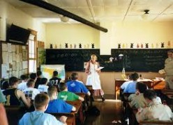 Students in a latter school setting