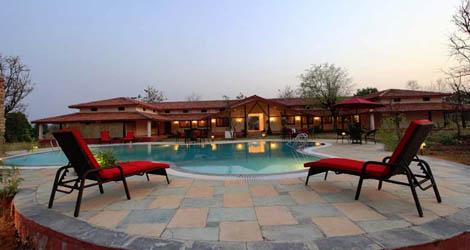 Resort at Kanha Tiger Reserve