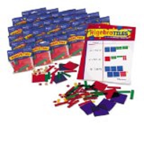 Algebra Tiles A set of algebra tiles makes an interesting, and important, learning tool/  For a full use of algebra tiles you might consider a book on the subject, which can give great hands on activities that can be manipulated, making the algebra
