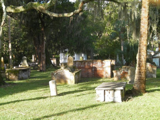 Graveyard Inside The Huguenot Cemetery St Augustine Florida