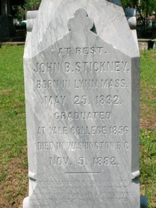 John B. Stickney Tombstone