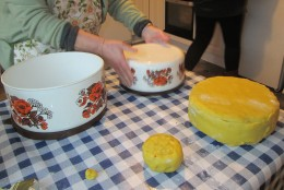 Icing the Christmas Cakes
