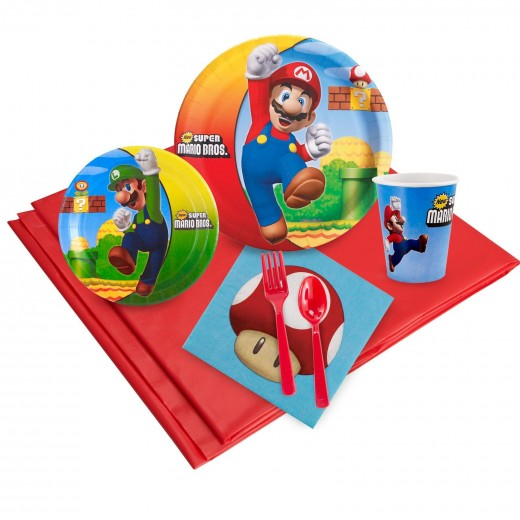 Super mario bros birthday party favors and supplies for Mario decorations