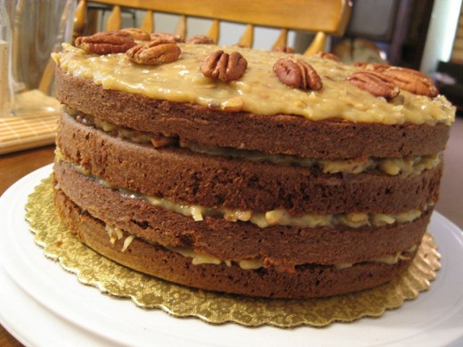 Layered German Chocolate Cake