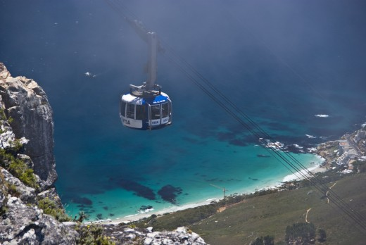 Cable car, fun and thrilling, not recommended on slight windy days especially if your not keen with heights.