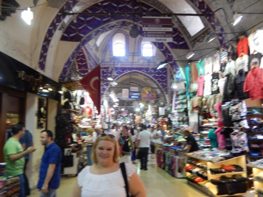 The author enjoying the many shops the Grand Bazaar has to offer.