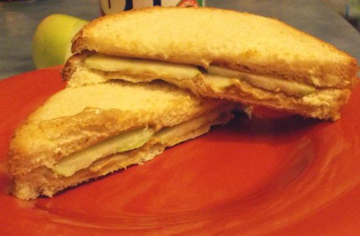 PB and Apple Sandwich