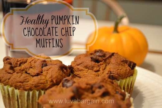 Healthy pumpkin chocolate chip muffin recipe