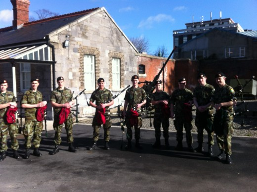 Passing the course in Cathal Brugha Barracks in Dublin.