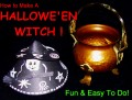 Easy Paper Craft: Make A Hallowe'en Witch!