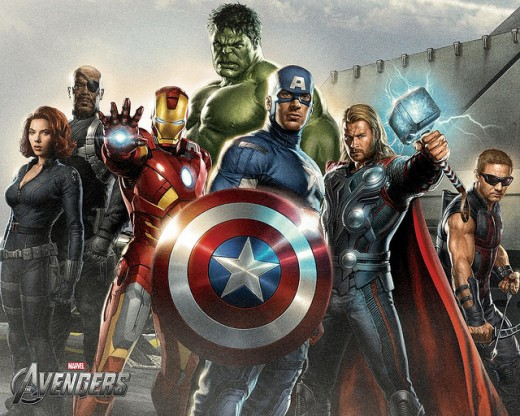 Thor With The Avengers Movie Art