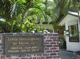 The Ernest Hemingway House in Key West is said to be haunted by Ernest Hemingway.