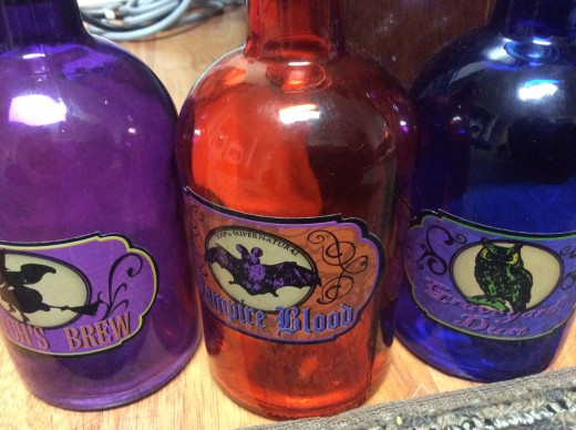 Halloween Decoration Potion Bottles