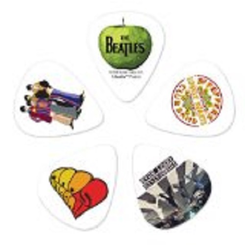 Beatles guitar picks are an inexpensive way to help your party.  Use on cupcakes or scatter around the table.