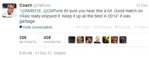 Punk is still not impressed... with Punk.