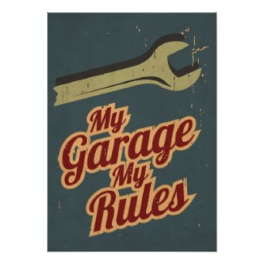 The Mechanic Rules the Garage posters and other items available by clicking the source link