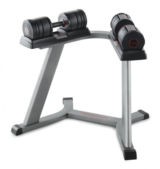 Weider SpeedWeight 100 (15-50 lbs.) Adjustable Dumbbell Set with Stand