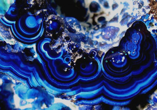 Azurite is often distinguished by its bright blue color.