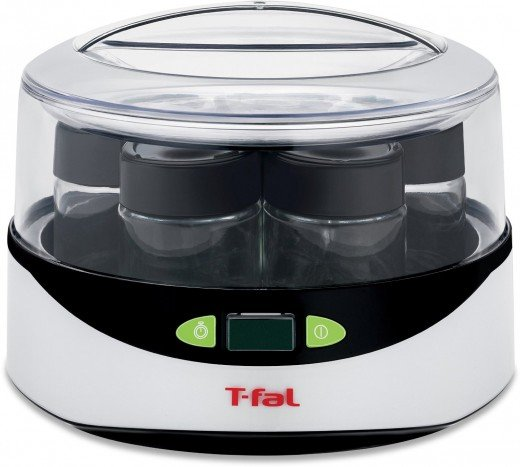 T-fal YG2328US Balanced Living Yogurt Maker with LCD Timer, White