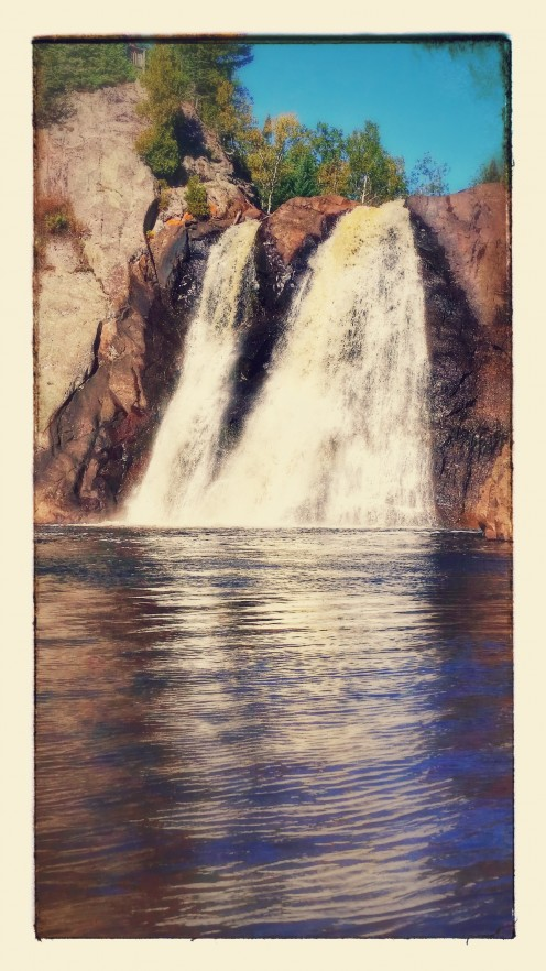 High Falls at the Baptism River Tettegouche State Park Minnesota