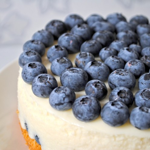 Blue berries on cake