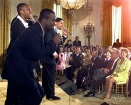 Take 6 performing at the White House